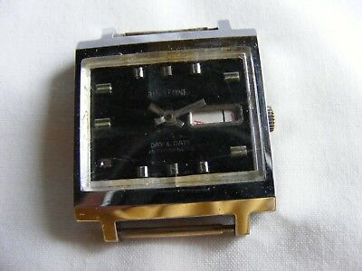 vintage BINATONE day/date hand wind watch-non runner-spares/parts etc