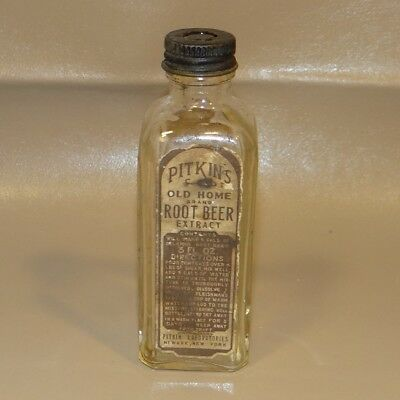 Antique Pitkin's Old Home Root Beer Extract Bottle