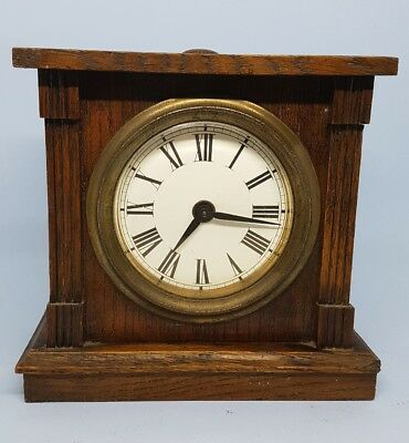Antique Mechanical Wooden Mantle Clock Unbranded Used for Repair 1922