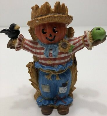PartyLite Halloween Scarecrow Reed Diffuser Holder fragrance oil ceramic fall