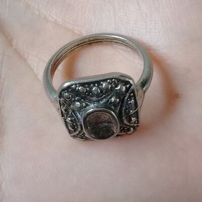 Antique ROMAN old solid colored silver ring museum quality artifact  Stunning