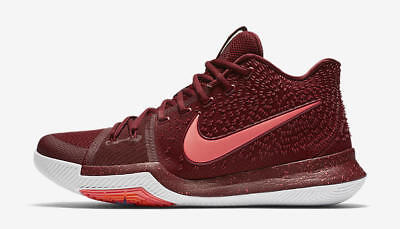 """NIKE - 852395-681 - KYRIE 3 - """"Warning"""" - Men's Shoes - Team Red Punch - Size 9"""