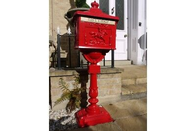 Victorian Large Floor Mounted Aluminium Mail Box, Post Box, Letter Box - Wedding