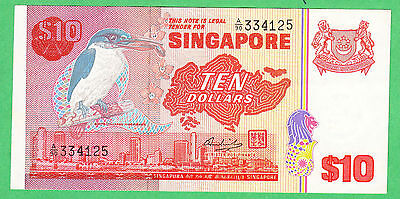 Singapore 10 Dollar Note P-11a  VERY FINE