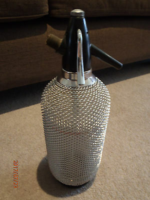 Retro Collectable Soda Syphon Steel Mesh Bottle