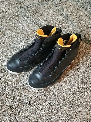 arrives bafc2 6c802 Nike Air Jordan 9 Retro 302370-004 Black Citrus-White Athletic Sneakers size