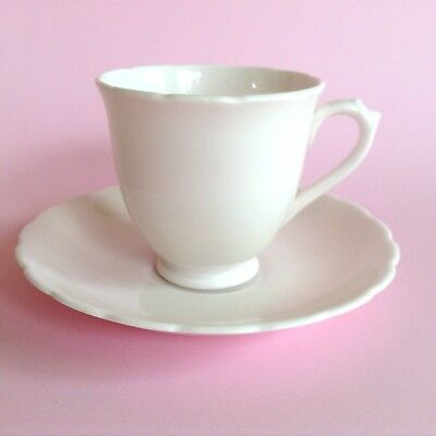 PASTEL PINK TUSCAN PLANT 1950s VINTAGE BONE CHINA TEA CUP & SAUCER DUO Royal