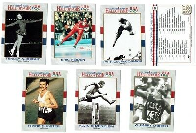12X 1991 Us Olympic Hall Of Fame Cards