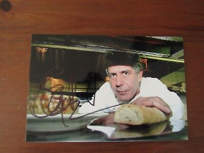 """Anthony Bourdain """"No Reservations"""" stunning signed Photograph"""
