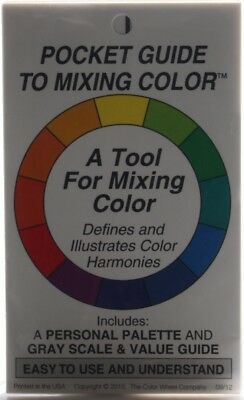 (1 PACK) - Pocket Guide To Mixing Colour. Color Wheel. Shipping Included