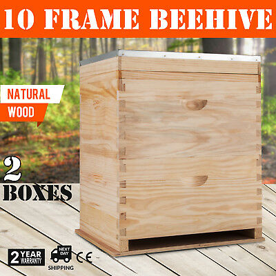 Beehive 20 Frame Complete Box Kit (10 Deep-10 Medium) Langstroth Beekeeping