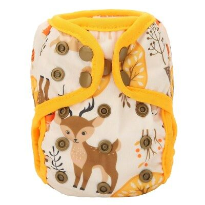 2018 NEWBORN Cloth Diaper Cover Baby Nappy Reusable Double Gusset 8-10lbs Deer