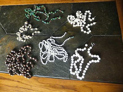 Vintage Assorted Costume Jewelry Necklace Lot of 6 Pieces Missing Their Latch/es