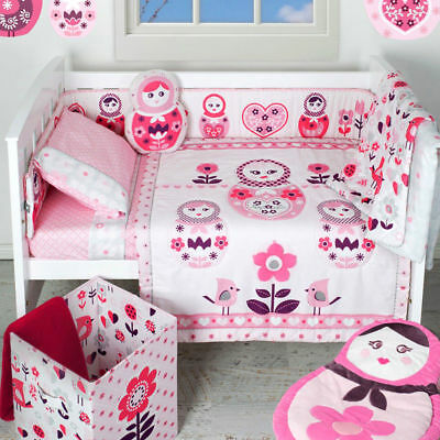Living Textiles Adele 6 Piece Cot Quilt Nursery Set **new In Bag** Free Post