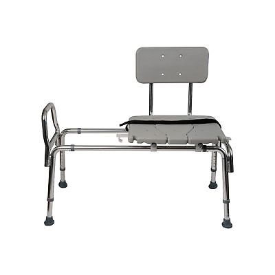 Duro-Med Heavy-Duty Sliding Transfer Bench Shower Chair CutOut Seat NEW OPEN BOX