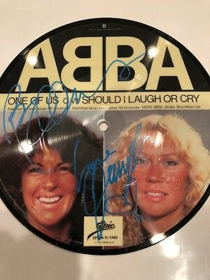 ABBA 45 Picture Disc Autographed By All 4 Original Members Agnatha Faltskog