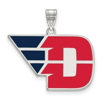 925 Sterling Silver Rhodium-plated Laser-cut University of Dayton Small Post Earrings