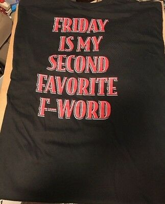 """New* Fireball Whisky Shirt, """" Friday Is My Second Favorite F Word"""" Men's L Or Xl"""