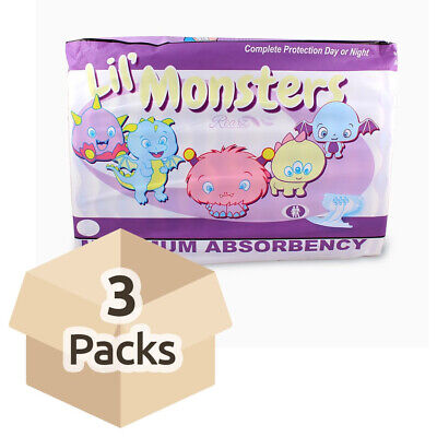 Adult Nappy / Diaper Rearz Lil' Monsters - Medium - Case - 3 Packs for 14
