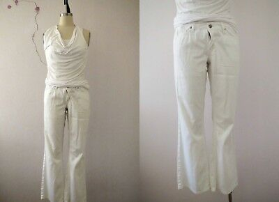 Urbane White Stretch Denim Bootcut Jeans Size 8 Buy 3+ items for FREE Postage