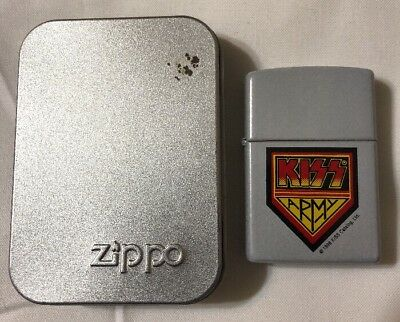 "Kiss ""kiss Army"" Officially Licensed 1998 Zippo Lighter! New!"