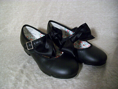 Capezio Girls Tap Shoes, Mary Janes, Bows, Black, 12 M, G8 - Extra Bow Clips