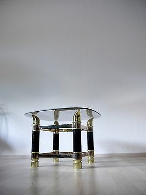 VINTAGE MID CENTURY HOLLYWOOD REGENCY STYLE KITSCHY 1970s COFFEE TABLE GLASS TOP