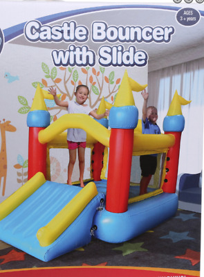 Inflatible Bouncing Jumping Castle Slide Play Sliding Indoor Exercise with Pump