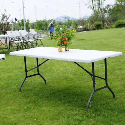 6' Folding Table Portable Plastic Indoor Outdoor Picnic Party Dining Camping Tab