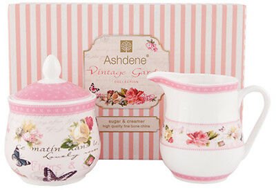 Ashdene Vintage Garden Collection - Sugar Bowl and Creamer