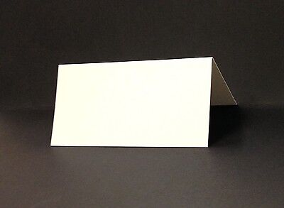 Blank Place Cards - Pack Of 25 - 350gsm Silk White Card - 100 x 50mm