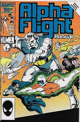 Alpha Flight Annual #1 (May 1986, Marvel) Giant-Sized, Mantlo story  FN/VF (7.0)