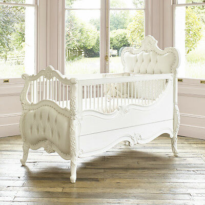 IN STOCK JULY - Luxury exclusive custom made French Rococo hand carved cot bed
