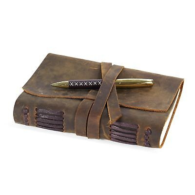 Leather Journal Travel Diary, Handmade Vintage Writing Bound Notebook For Men