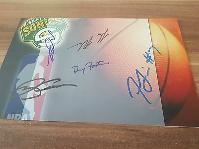 Seattle SuperSonics 5x signed Autograph COA Autogramm NBA Basketball Ray Allen