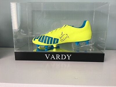 70914fd3c1a6 JAMIE VARDY SIGNED Football Boot in acrylic case - £100.00