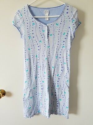 Light Blue Aria Nightgown Pajamas Short-Sleeve Woman's size Small