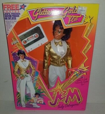 JEM Glitter & Gold Rio Fashion Doll Holograms Cassette Tape Hasbro 1986 NEW