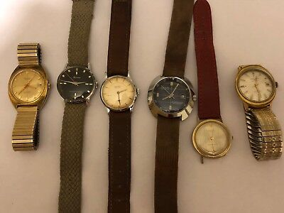 Job Lot Of vintage Gents Watches Mechanical Hand Wind watches Spare Or repair