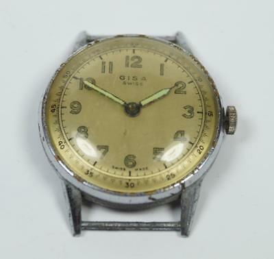 Swiss Made Vintage Gentlemen's 'GISA' 1960's Watch Working 37mm