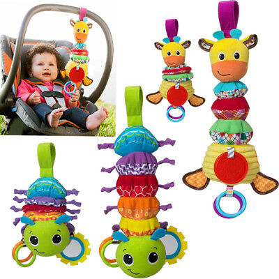 Baby Kid Car Pram Handbell Stroller Hanging Musical Soft Rattle Toy with Teether