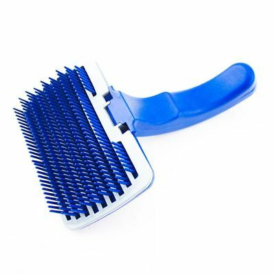 Pet Dog Cat Grooming Self Cleaning Slicker Brush Comb Shedding Tool Hair Fu A7W6