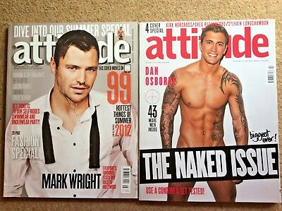 2 x Attitude Magazines  Mark Wright, Dan Osborne, Kirk Norcross, Greg Rutherford