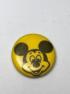 Vintage Mickey Mouse Disney Production  Pin Back Button