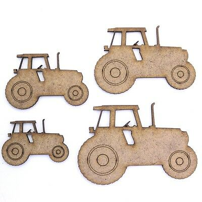 Tractor Craft Shape, Various Sizes, 2mm MDF Wood. Farm Farming Vehicle