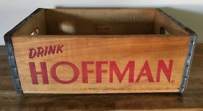 Vintage Hoffman Beverages Wooden Crate Dated February, 1963