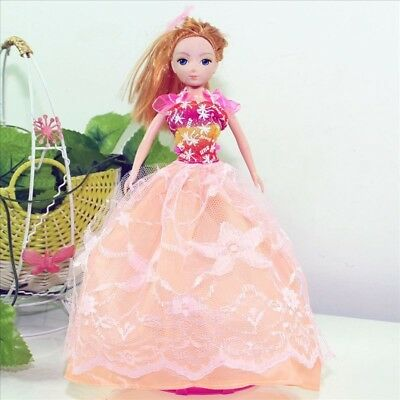 Handmade Party Dress Fashion Clothes For Barbie Doll Outfit Gown Wedding Rpink
