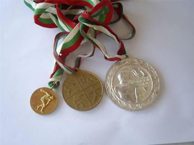 Rare Set Lot of  3 pcs. Bulgaria Bulgarian Sport  Medal