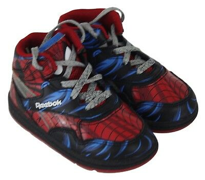 Reebok Marvel Spiderman Reverse Jam Toddler Boys High Top Sneakers Size 6M 5a0e0ccef