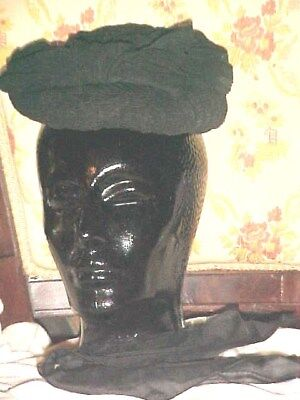 RARE, ANTIQUE, Victorian, CIVIL WAR AUTHENTIC CAPOT TYPE HAT  AS IS
